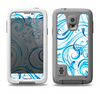 The Wild Blue Swirly Vector Water Pattern Samsung Galaxy S5 LifeProof Fre Case Skin Set