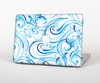 The Wild Blue Swirly Vector Water Pattern Skin Set for the Apple MacBook Pro 15""