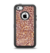 The Wild Leopard Print Apple iPhone 5c Otterbox Defender Case Skin Set