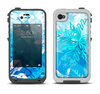 The Winter Abstract Blue Apple iPhone 4-4s LifeProof Fre Case Skin Set