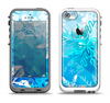The Winter Abstract Blue Apple iPhone 5-5s LifeProof Fre Case Skin Set