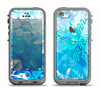 The Winter Abstract Blue Apple iPhone 5c LifeProof Fre Case Skin Set