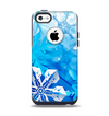 The Winter Abstract Blue Apple iPhone 5c Otterbox Commuter Case Skin Set