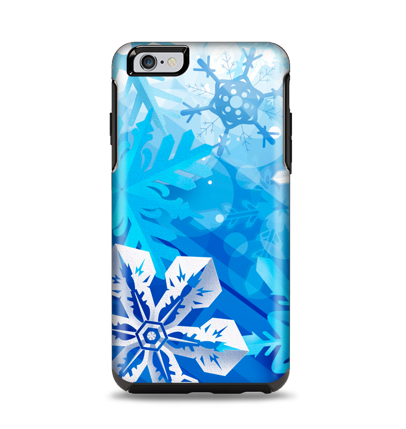 The Winter Abstract Blue Apple iPhone 6 Plus Otterbox Symmetry Case Sk -  DesignSkinz 96ce741d75b4