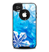 The Winter Abstract Blue Skin for the iPhone 4-4s OtterBox Commuter Case