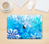 "The Winter Abstract Blue Skin Kit for the 12"" Apple MacBook"
