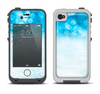 The Winter Blue Abstract Unfocused Apple iPhone 4-4s LifeProof Fre Case Skin Set
