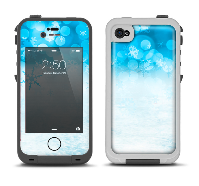 outlet store 24a7c 1b92f The Winter Blue Abstract Unfocused Apple iPhone 4-4s LifeProof Fre Case  Skin Set