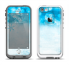 The Winter Blue Abstract Unfocused Apple iPhone 5-5s LifeProof Fre Case Skin Set