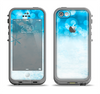 The Winter Blue Abstract Unfocused Apple iPhone 5c LifeProof Fre Case Skin Set