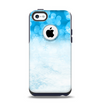 The Winter Blue Abstract Unfocused Apple iPhone 5c Otterbox Commuter Case Skin Set