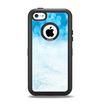 The Winter Blue Abstract Unfocused Apple iPhone 5c Otterbox Defender Case Skin Set