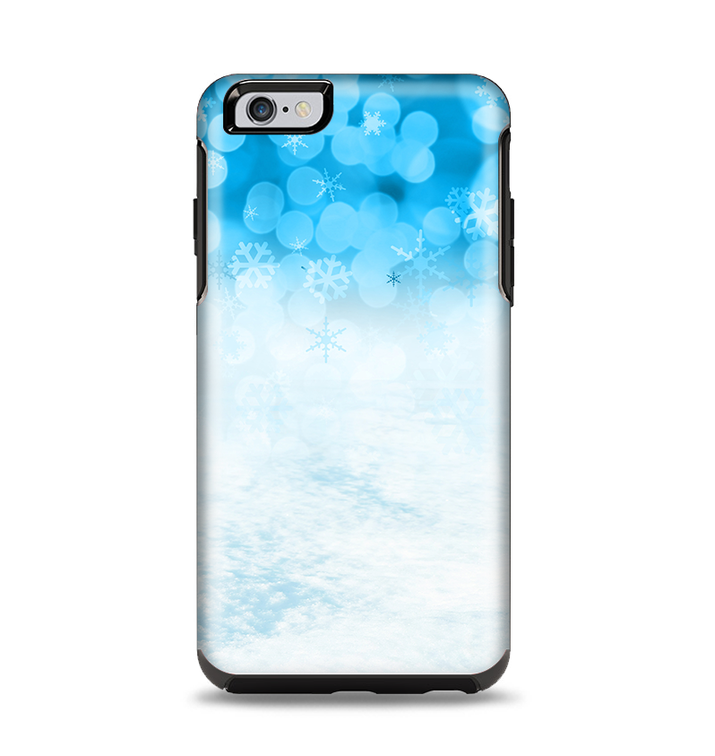 timeless design 14dc5 5ef34 The Winter Blue Abstract Unfocused Apple iPhone 6 Plus Otterbox Symmetry  Case Skin Set