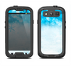 The Winter Blue Abstract Unfocused Samsung Galaxy S3 LifeProof Fre Case Skin Set