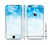 The Winter Blue Abstract Unfocused Sectioned Skin Series for the Apple iPhone 6