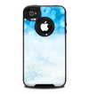 The Winter Blue Abstract Unfocused Skin for the iPhone 4-4s OtterBox Commuter Case