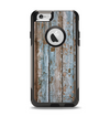 The Wood Planks with Peeled Blue Paint Apple iPhone 6 Otterbox Commuter Case Skin Set