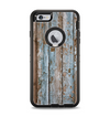 The Wood Planks with Peeled Blue Paint Apple iPhone 6 Plus Otterbox Defender Case Skin Set