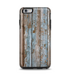 The Wood Planks with Peeled Blue Paint Apple iPhone 6 Plus Otterbox Symmetry Case Skin Set