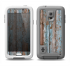The Wood Planks with Peeled Blue Paint Samsung Galaxy S5 LifeProof Fre Case Skin Set