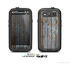 The Wood Planks with Peeled Blue Paint Skin For The Samsung Galaxy S3 LifeProof Case