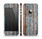 The Wood Planks with Peeled Blue Paint Skin Set for the Apple iPhone 5