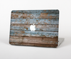 The Wood Planks with Peeled Blue Paint Skin Set for the Apple MacBook Pro 15""