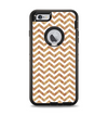 The Wood & White Chevron Pattern Apple iPhone 6 Plus Otterbox Defender Case Skin Set