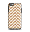 The Wood & White Chevron Pattern Apple iPhone 6 Plus Otterbox Symmetry Case Skin Set