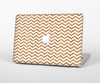 "The Wood & White Chevron Pattern Skin Set for the Apple MacBook Pro 13"" with Retina Display"