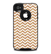 The Wood & White Chevron Pattern Skin for the iPhone 4-4s OtterBox Commuter Case