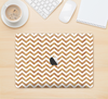 "The Wood & White Chevron Pattern Skin Kit for the 12"" Apple MacBook"