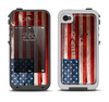 The Wooden Grungy American Flag Apple iPhone 4-4s LifeProof Fre Case Skin Set
