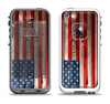 The Wooden Grungy American Flag Apple iPhone 5-5s LifeProof Fre Case Skin Set