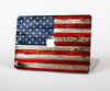 The Wooden Grungy American Flag Skin Set for the Apple MacBook Pro 15""