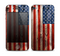 The Wooden Grungy American Flag Skin for the Apple iPhone 4-4s