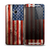 The Wooden Grungy American Flag Skin for the HTC One