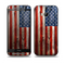 The Wooden Grungy American Flag Skin for the HTC One M8