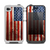 The Wooden Grungy American Flag Skin for the iPhone 4-4s LifeProof Case
