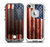 The Wooden Grungy American Flag Skin for the iPhone 5-5s frē LifeProof Case