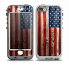 The Wooden Grungy American Flag Skin for the iPhone 5-5s nüüd LifeProof Case