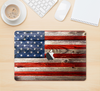 "The Wooden Grungy American Flag Skin Kit for the 12"" Apple MacBook"
