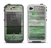 The Wooden Planks with Chipped Green Paint Apple iPhone 4-4s LifeProof Fre Case Skin Set