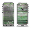 The Wooden Planks with Chipped Green Paint Apple iPhone 5-5s LifeProof Fre Case Skin Set