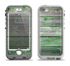 The Wooden Planks with Chipped Green Paint Apple iPhone 5-5s LifeProof Nuud Case Skin Set
