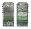 The Wooden Planks with Chipped Green Paint Apple iPhone 5c LifeProof Fre Case Skin Set