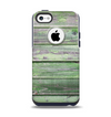 The Wooden Planks with Chipped Green Paint Apple iPhone 5c Otterbox Commuter Case Skin Set