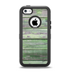 The Wooden Planks with Chipped Green Paint Apple iPhone 5c Otterbox Defender Case Skin Set