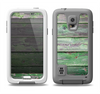 The Wooden Planks with Chipped Green Paint Samsung Galaxy S5 LifeProof Fre Case Skin Set