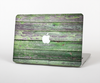 The Wooden Planks with Chipped Green Paint Skin Set for the Apple MacBook Pro 15""